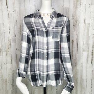 Mossimo Supply Co. | Black/White Plaid Flannel